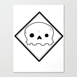 Non-threatening Skull Canvas Print