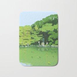 Green pond Bath Mat