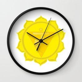 Manipura Chakra Solar Plexus chakra Yoga Wall Clock