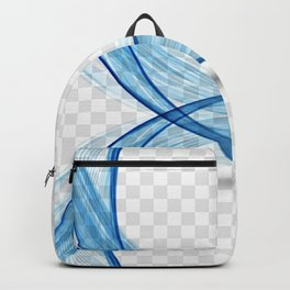 Modern blue wavy shape Backpack