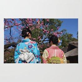Kimono Girls in Nature Rug
