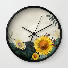sunflowers garden country dreams Wall Clock