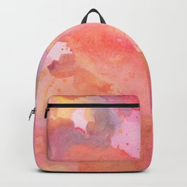 Sunset Color Palette Abstract Watercolor Painting Backpack