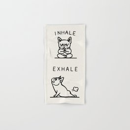 Inhale Exhale Frenchie Hand & Bath Towel