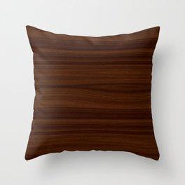 Dark Wood Texture Throw Pillow