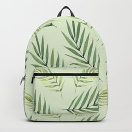 Green Palm Watercolor Leafs Backpack