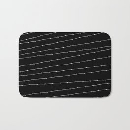 Cool black and white barbed wire pattern Bath Mat