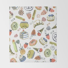 sweets Throw Blanket