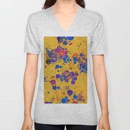 Vibrant Multi Color Abstract Design Unisex V-Neck