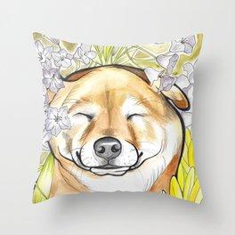 Jay Jay the happy Shiba Throw Pillow