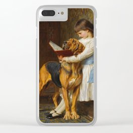 Briton Riviere  -  Reading Lesson  Compulsory Education Clear iPhone Case