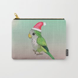 Green Christmas parrot Carry-All Pouch