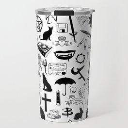Buffy Symbology, Black Travel Mug