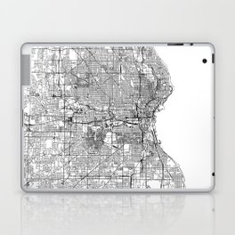 Milwaukee White Map Laptop & iPad Skin