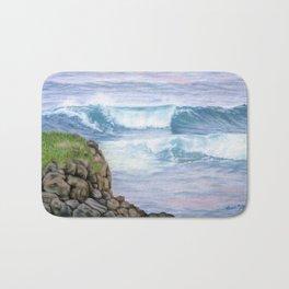 Cliff By The Sea Bath Mat