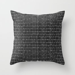 The Binary Code DOS version Throw Pillow