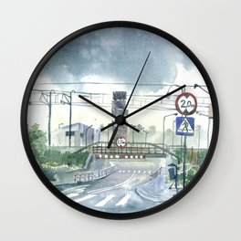 Level crossing in Radomsk Wall Clock
