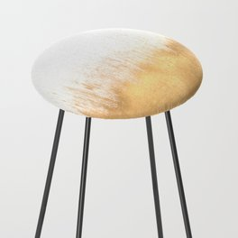 Brushed Gold Counter Stool