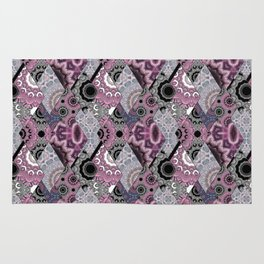 The national pattern in the patchwork . Purple Rug