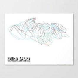 Fernie, British Columbia, Canada - Minimalist Trail Maps Canvas Print