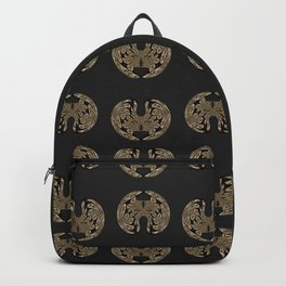 Odd order - Pattern of symmetric squeezed shapes Backpack