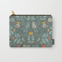 Swedish Folk Cats Carry-All Pouch