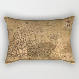 Map of the City of New York from an actual survey (circa 1755) Rectangular Pillow