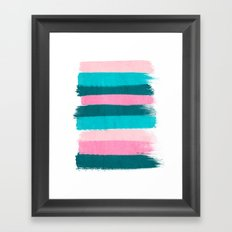 Holden - abstract painting minimal brushstrokes painterly boho modern trendy girly art Framed Art Print
