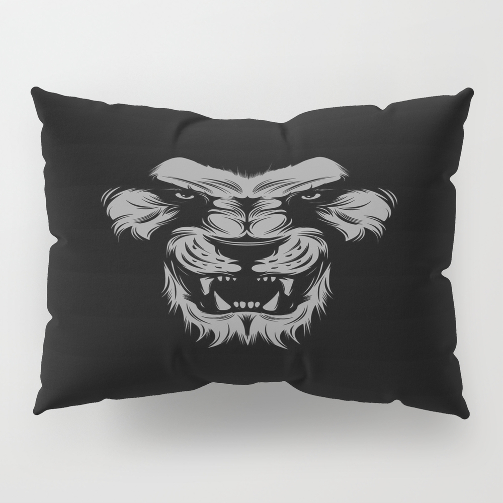 Tiger Lion Monkey Pillow Sham by Catslovers PSH9005931