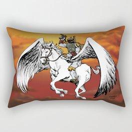 Boba Fett riding Pegasus Rectangular Pillow