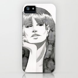 Watercolor Girl V iPhone Case