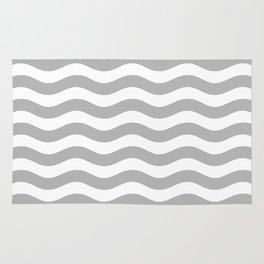 Wavy Stripes Patten Gray Rug