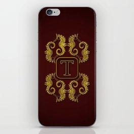 Monogram T seahorse iPhone Skin