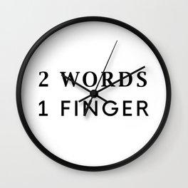 2 Words Wall Clock