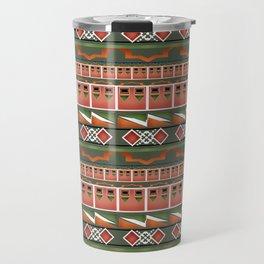 Colorful tribal ethnic ornament . Travel Mug