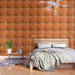 Gradient Orange Diamonds Geometric Shapes Wallpaper