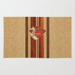 Waimea Hawaiian Surfboard Design Rug