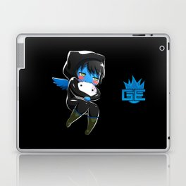 Fuzzy Chibi Luc (Expression 2) w/ Black Background (no cloud) Laptop & iPad Skin