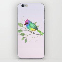 Rainbow bird iPhone Skin