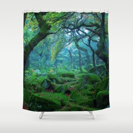 Enchanted forest mood Shower Curtain