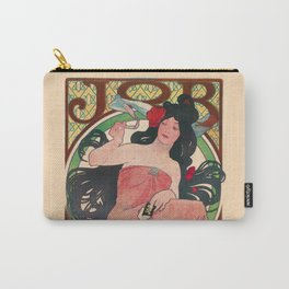 Alphonse Mucha Job Rolling Papers Art Nouveau Woman Carry-All Pouch