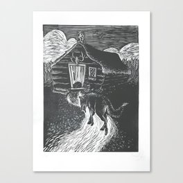 Wolf Going to Grandma's House Canvas Print