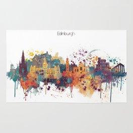 Edinburgh Watercolour Skyline Rug