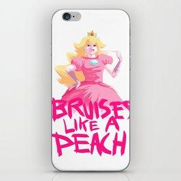 BRUISES LIKE A PEACH iPhone Skin