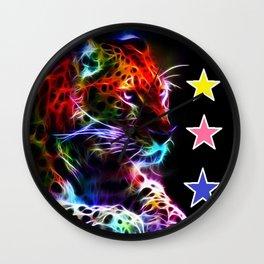 Colourful Lion Stars Wall Clock