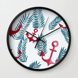 anchor jungle Wall Clock