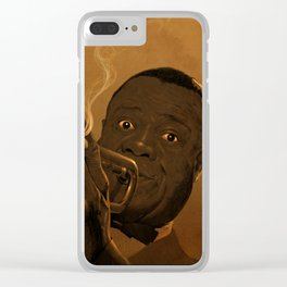 LOUIS ARMSTRONG II Clear iPhone Case