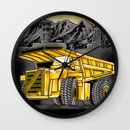 Support Coal Dump Truk Wall Clock