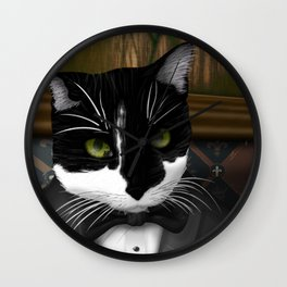 Cat in a Suit Wall Clock