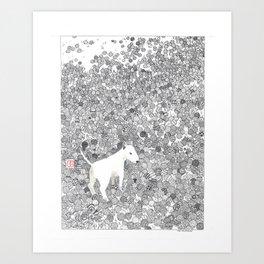 Ball Terrier Art Print